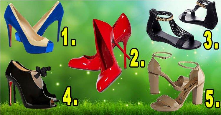 ТЕСТ! Выберите любимые туфельки и узнайте тайны своей женственности!